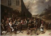 Gillis van Tilborgh Outside a Tavern china oil painting reproduction