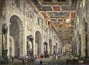 Giovanni Paolo Pannini Interior of the San Giovanni in Laterano in Rome china oil painting reproduction