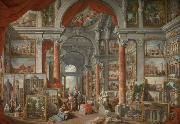 Giovanni Paolo Pannini Picture Gallery with Views of Modern Rome china oil painting reproduction