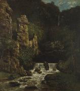 Gustave Courbet Landscape with Waterfall china oil painting reproduction