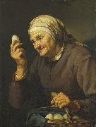 Hendrick Bloemaert woman selling eggs china oil painting reproduction