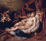 Hendrick Goltzius Sleeping Danae Being Prepared to Receive Jupiter oil painting picture wholesale