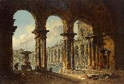 Hubert Robert Ancient Ruins Used as Public Baths china oil painting reproduction