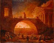 Hubert Robert The Fire of Rome china oil painting reproduction