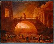 Hubert Robert Fire of Rome china oil painting reproduction