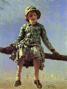Ilya Yefimovich Repin Dragonfly. Portrait of Vera Repina china oil painting reproduction