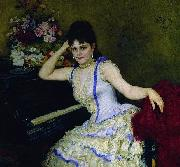 Ilya Yefimovich Repin Portrait of pianist and professor of Saint-Petersburg Conservatory Sophie Menter. china oil painting reproduction