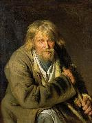 Ivan Nikolaevich Kramskoi Old Man with a Crutch china oil painting reproduction