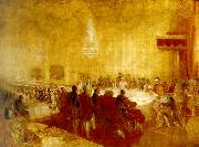 J.M.W.Turner george iv at the provost's banquet, edinburgh china oil painting reproduction