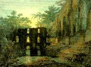 J.M.W.Turner the dormitorg and trancept of fountain's abbey-evening china oil painting reproduction