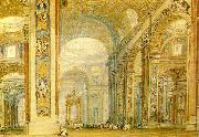 J.M.W.Turner the interior of st peter's basilica china oil painting reproduction