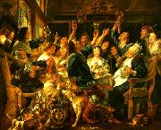 Jacob Jordaens bonfesten china oil painting reproduction