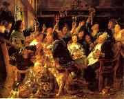 Jacob Jordaens Feast of the bean king china oil painting reproduction