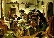 Jan Steen upp-och nedvanda varlden china oil painting reproduction