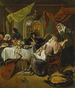 Jan Steen The Dissolute Household china oil painting reproduction