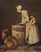 Jean Simeon Chardin Frau Geschirr scheuernd china oil painting reproduction