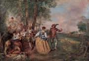 Jean antoine Watteau Die Schafer china oil painting reproduction