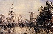 Johan Barthold Jongkind The Port of Rotterdam china oil painting reproduction