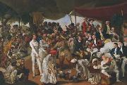 Johann Zoffany Cockfight in Lucknow china oil painting reproduction