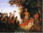 John Gadsby Chapman The Coronation of Powhatan china oil painting reproduction