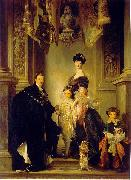 John Singer Sargent Portrait of the 9th Duke of Marlborough with his family china oil painting reproduction