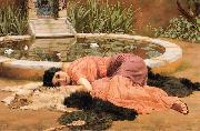 John William Godward Dolce far Niente or Sweet Nothings china oil painting reproduction