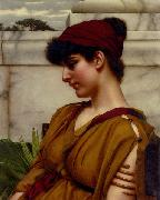 John William Godward A Classical Beauty In Profile china oil painting reproduction