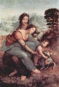 LEONARDO da Vinci Hl. Anna, Maria, Christuskind mit Lamm china oil painting reproduction