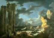 Leonardo Coccorante Port of Ostia During a Tempest china oil painting reproduction