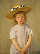 Mary Cassatt Child in a Straw Hat china oil painting reproduction