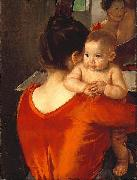 Mary Cassatt Woman in a Red Bodice and Her Child china oil painting reproduction