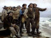 Michael Ancher Will he round the point china oil painting reproduction