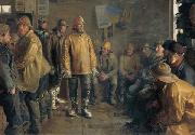 Michael Ancher In the grocery store on a winter day when there is no fishing china oil painting reproduction