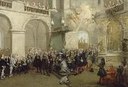 Nicolas Lancret La remise de l'Ordre du Saint-Esprit dans la chapelle de Versailles china oil painting reproduction