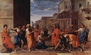Nicolas Poussin Christus und die Ehebrecherin china oil painting reproduction