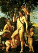 Nicolas Poussin bacchus-apollo china oil painting reproduction