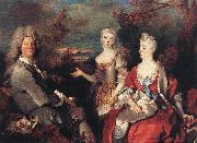 Nicolas de Largilliere Portrait de famille china oil painting reproduction
