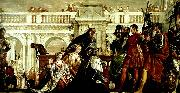 Paolo  Veronese the family of darus before alexander china oil painting reproduction