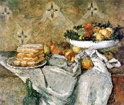 Paul Cezanne Plate with fruits and sponger fingers china oil painting reproduction