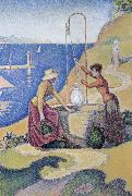 Paul Signac women at the well opus oil painting picture wholesale