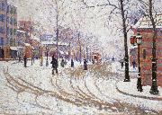 Paul Signac snow boulevard de clichy pa ris china oil painting reproduction