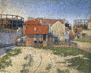 Paul Signac the gas tanks at clichy china oil painting reproduction
