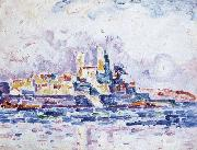 Paul Signac red sunset oil painting picture wholesale