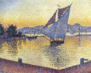 Paul Signac port at sunset oil painting picture wholesale