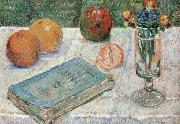Paul Signac still life with a book and roanges china oil painting reproduction