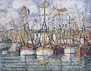 Paul Signac blessing of the tuna boats oil painting picture wholesale