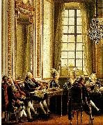 Pehr Hillestrom conversation pa drottningholm china oil painting reproduction