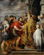 Peter Paul Rubens Saint Ambrose forbids emperor Theodosius I to enter the church china oil painting reproduction