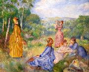 Pierre-Auguste Renoir Young Ladies Playing Badminton china oil painting reproduction