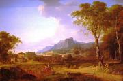 Pierre-Henri de Valenciennes A Capriccio of Rome with the Finish of a Marathon china oil painting reproduction